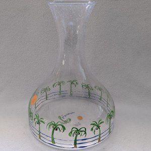 Anthropologie Boca Raton Carafe Palm Tree Vase